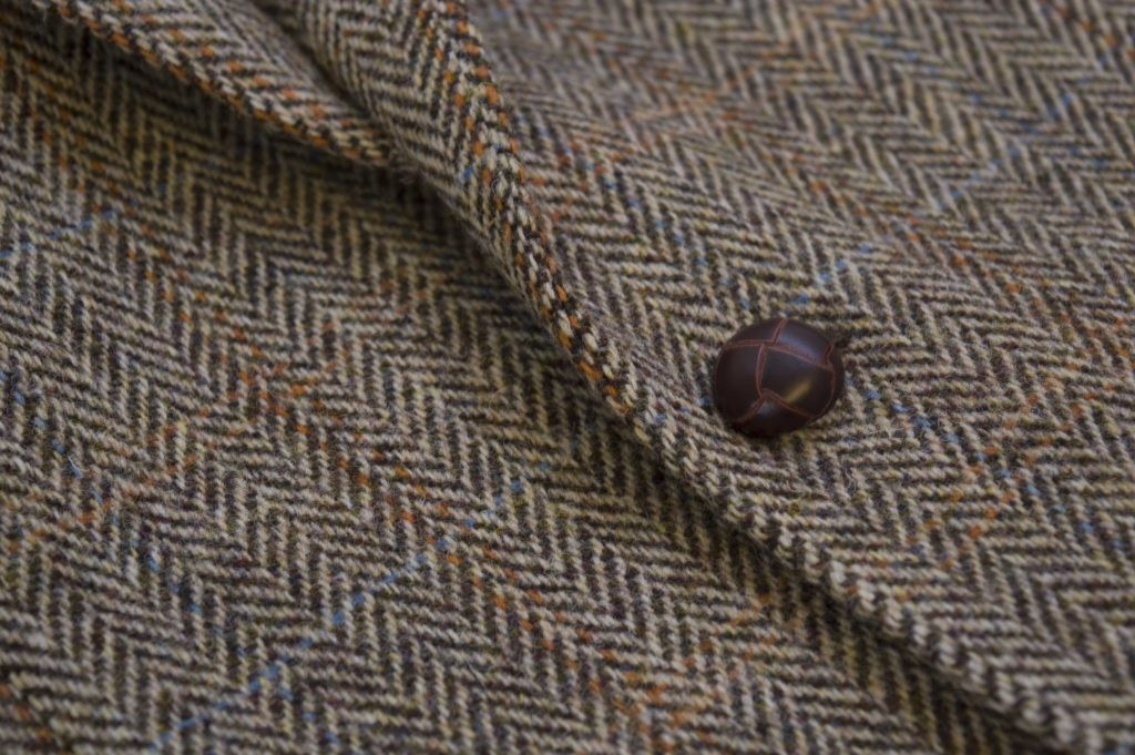 Veste en tweed 2 boutons Harris Tweed