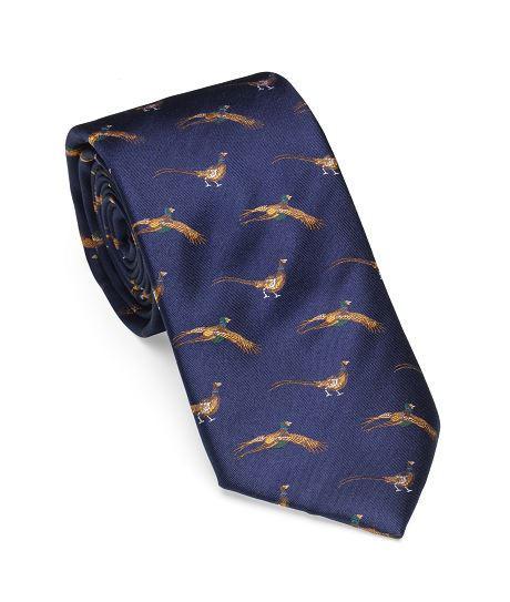 Cravates Motifs Faisans Laksen