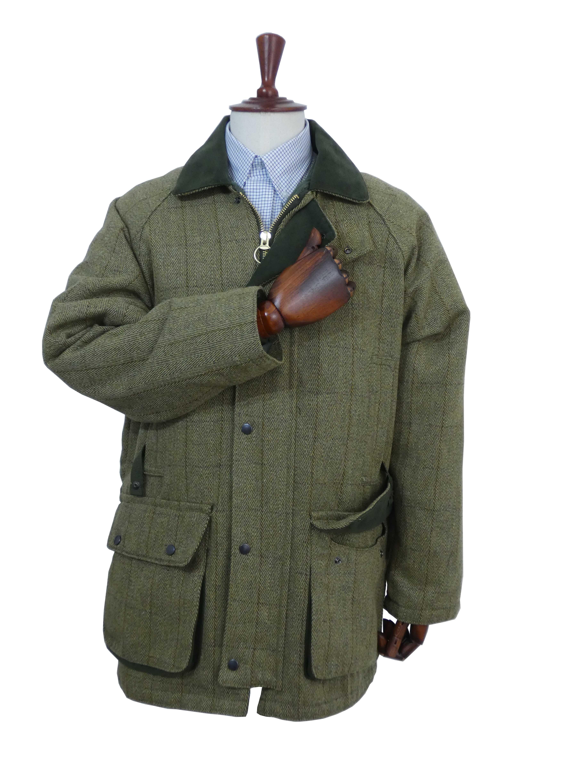 Manteau tweed homme