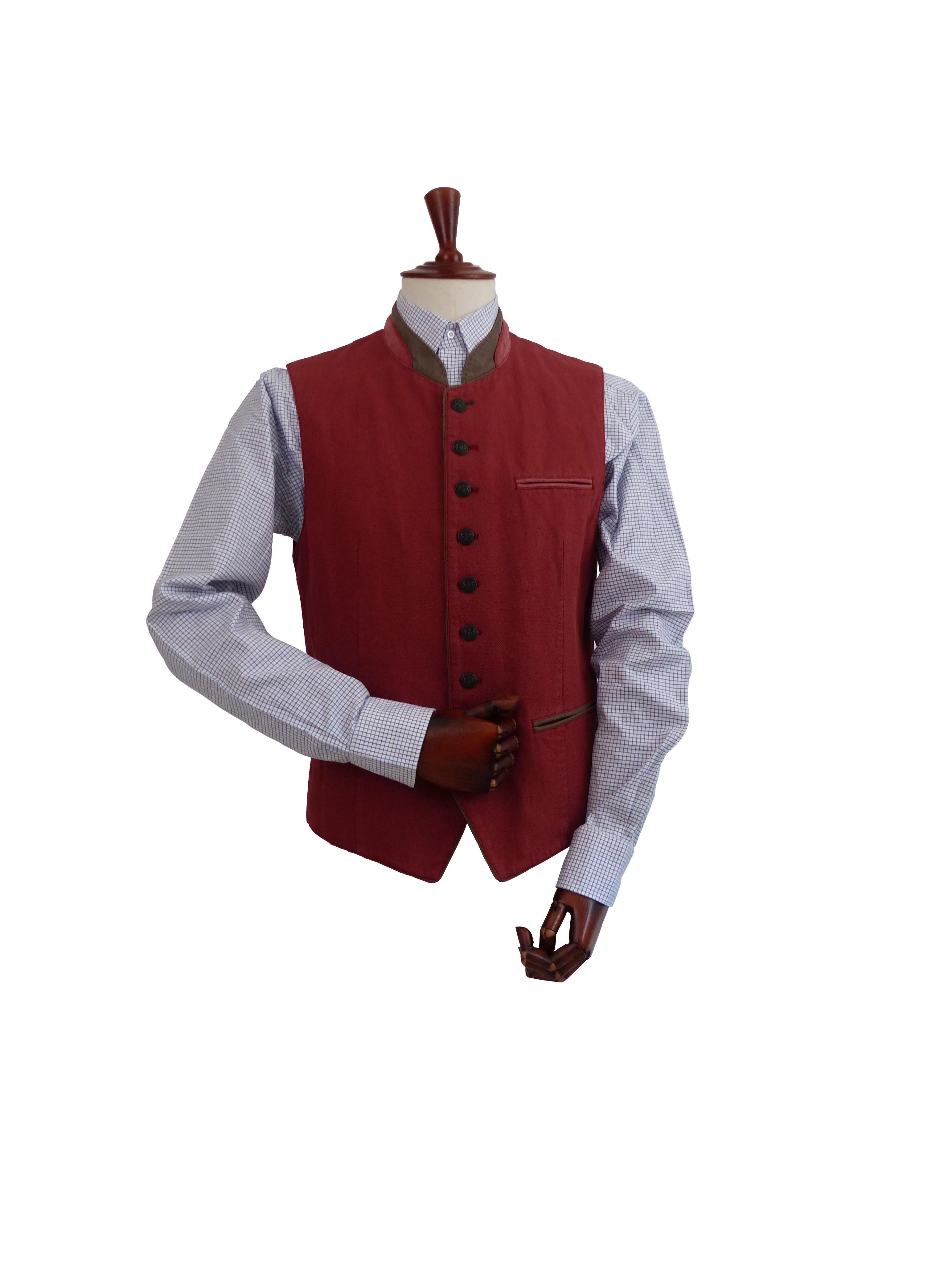 Gilet Iber Garment Dyed Terracota Schneiders