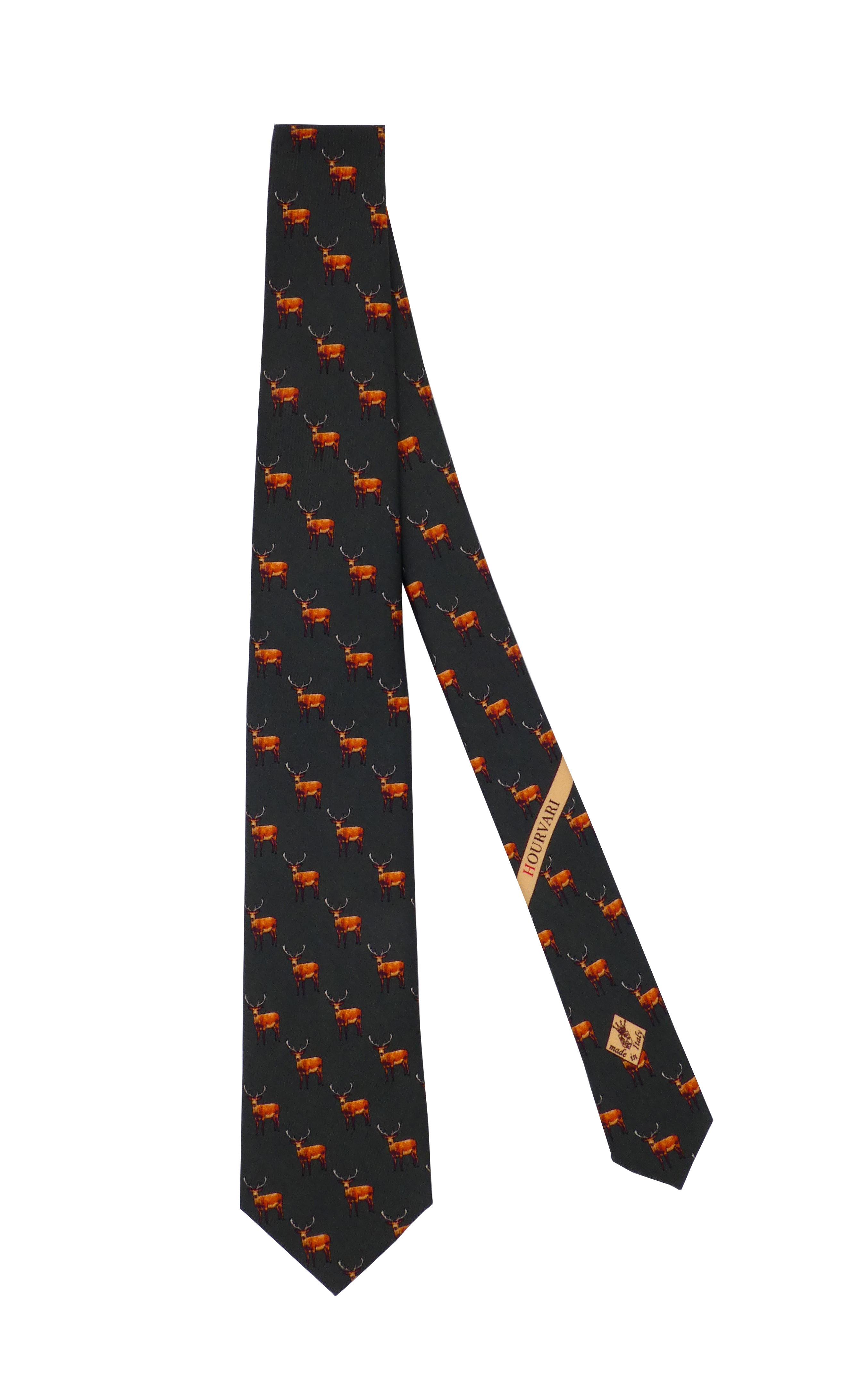 "Cravate de chasse en soie ""cerf"""