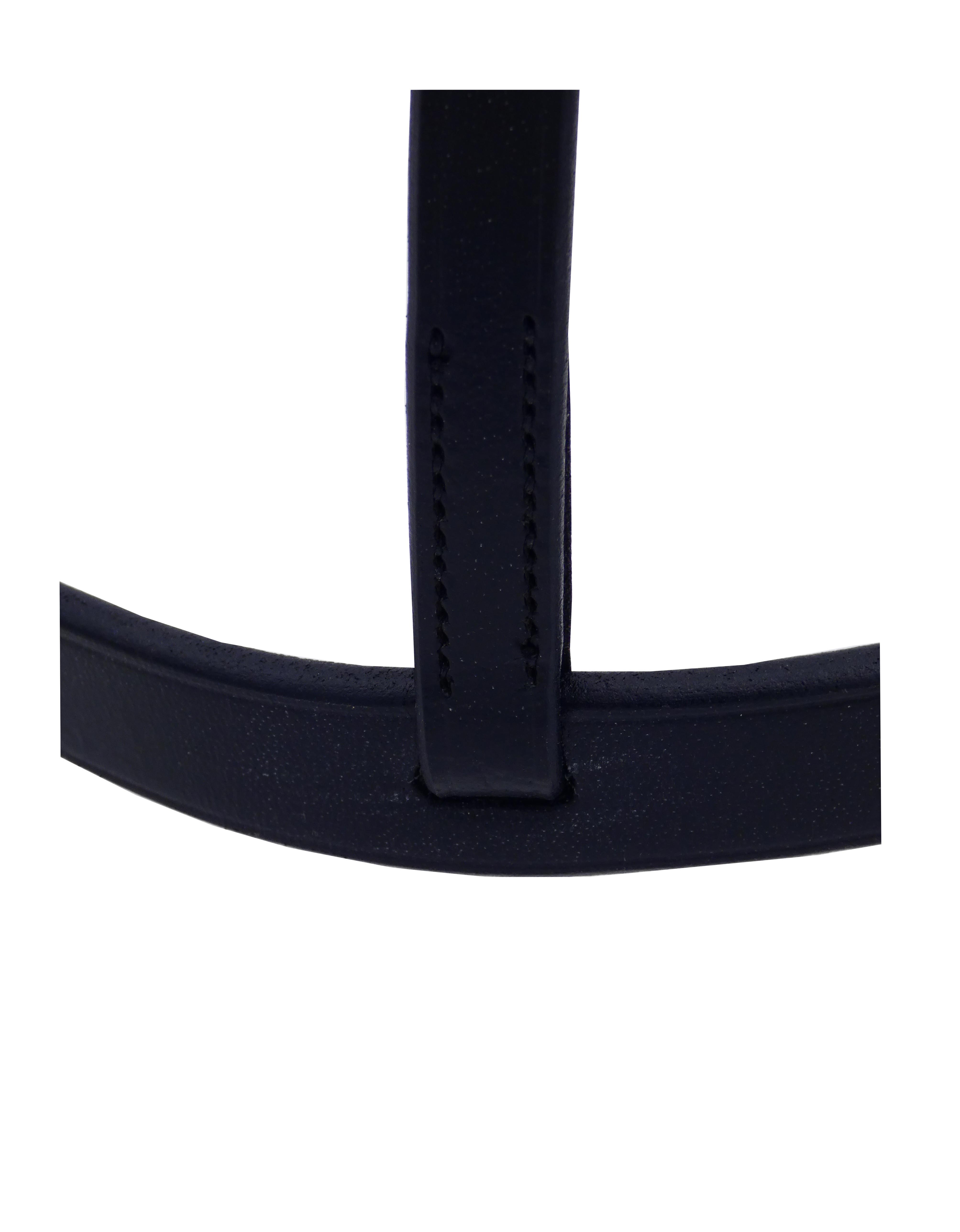 Muserolle cuir large couleur noire
