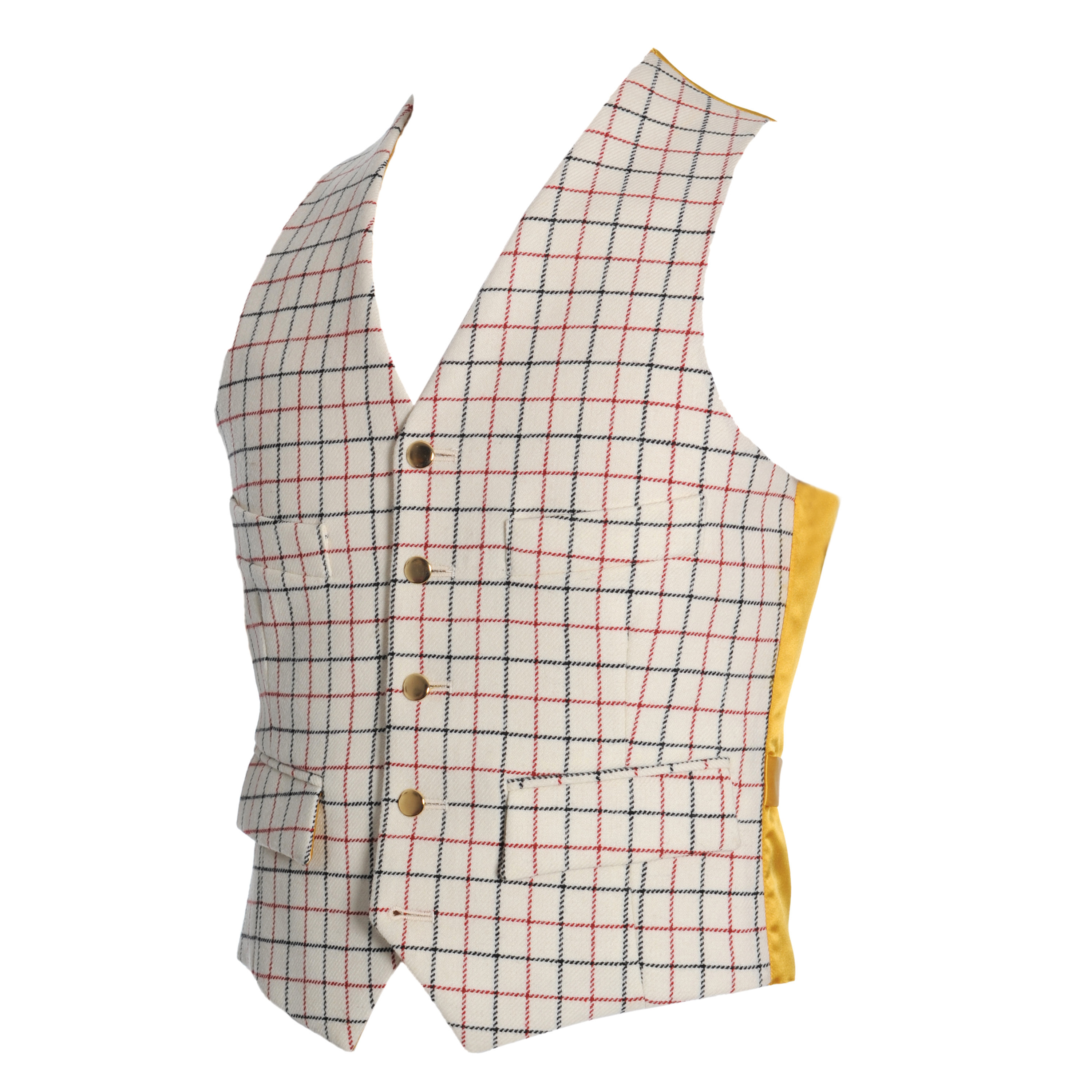 Gilet d'invité tattersall Homme