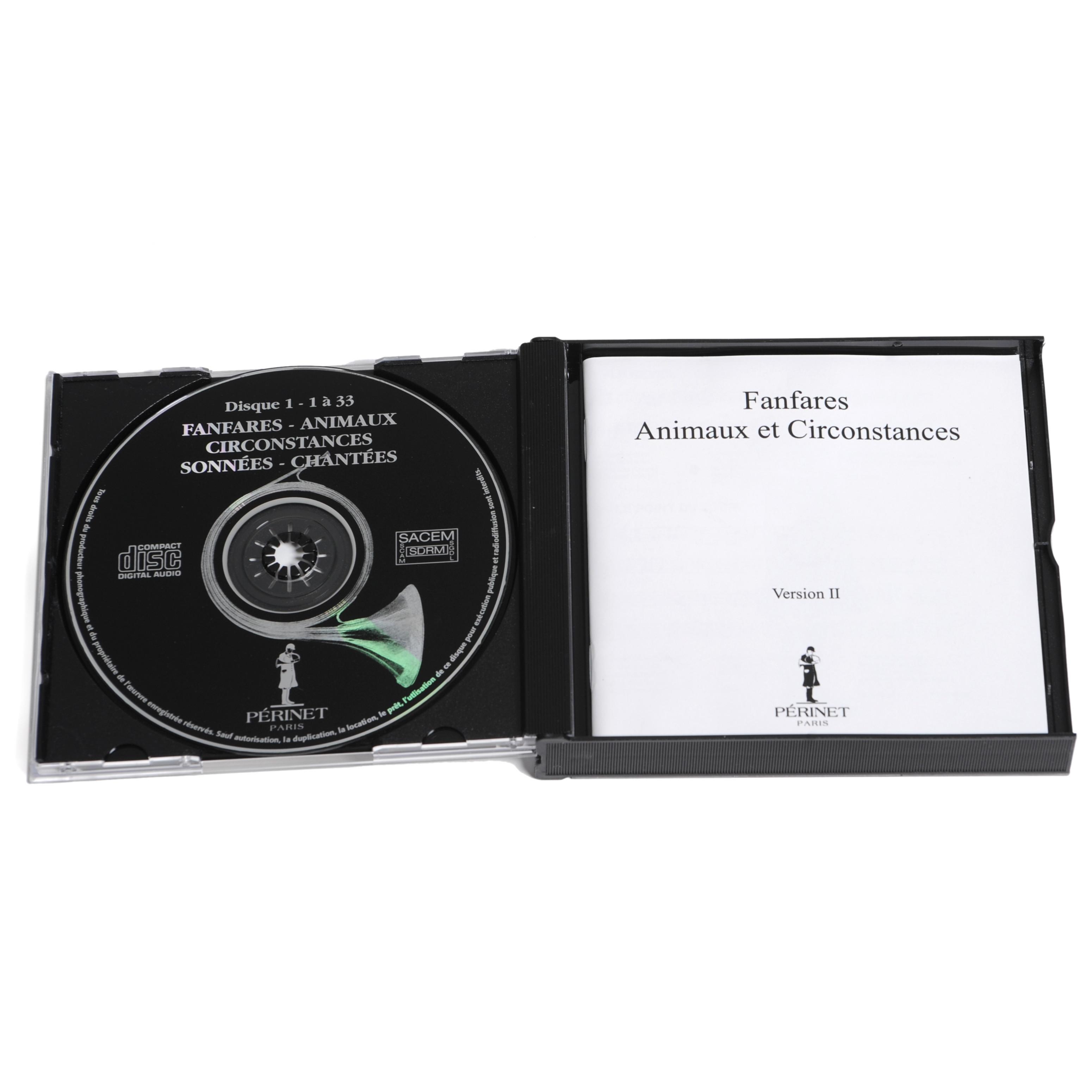Coffret 3 CD - Fanfares sonnées et chantées - trompe