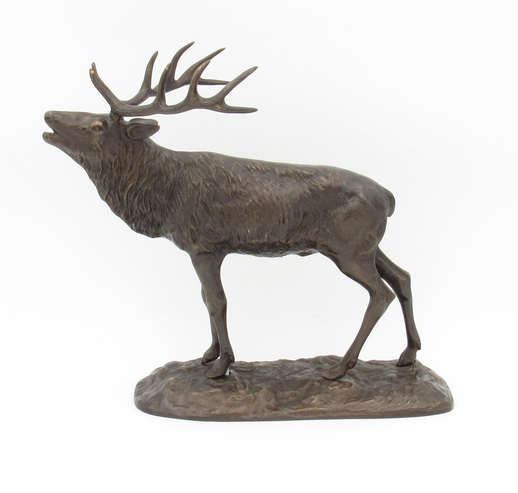 Bronze Cerf au brame - moyen modèle