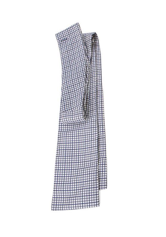 Cravate de vénerie carreaux blancs