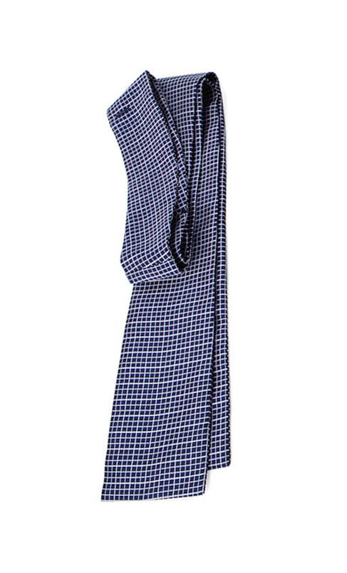 Cravate de vénerie carreaux bleux