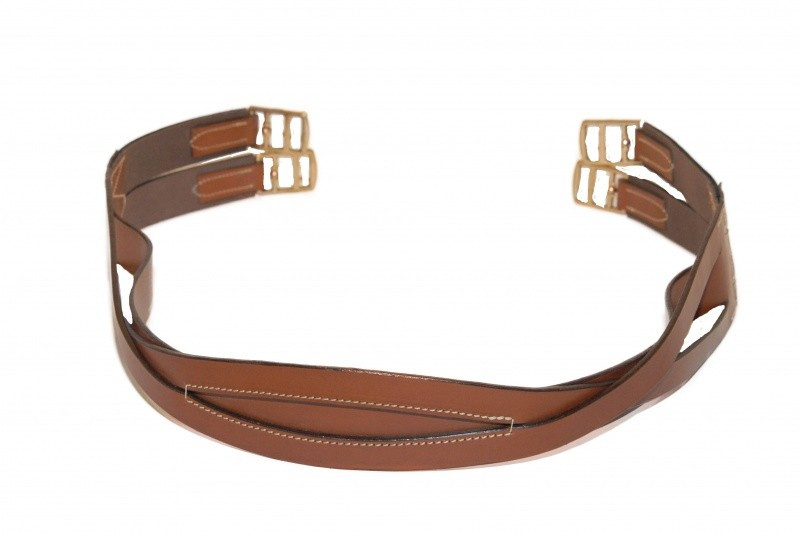 Sangle polo cuir sellier