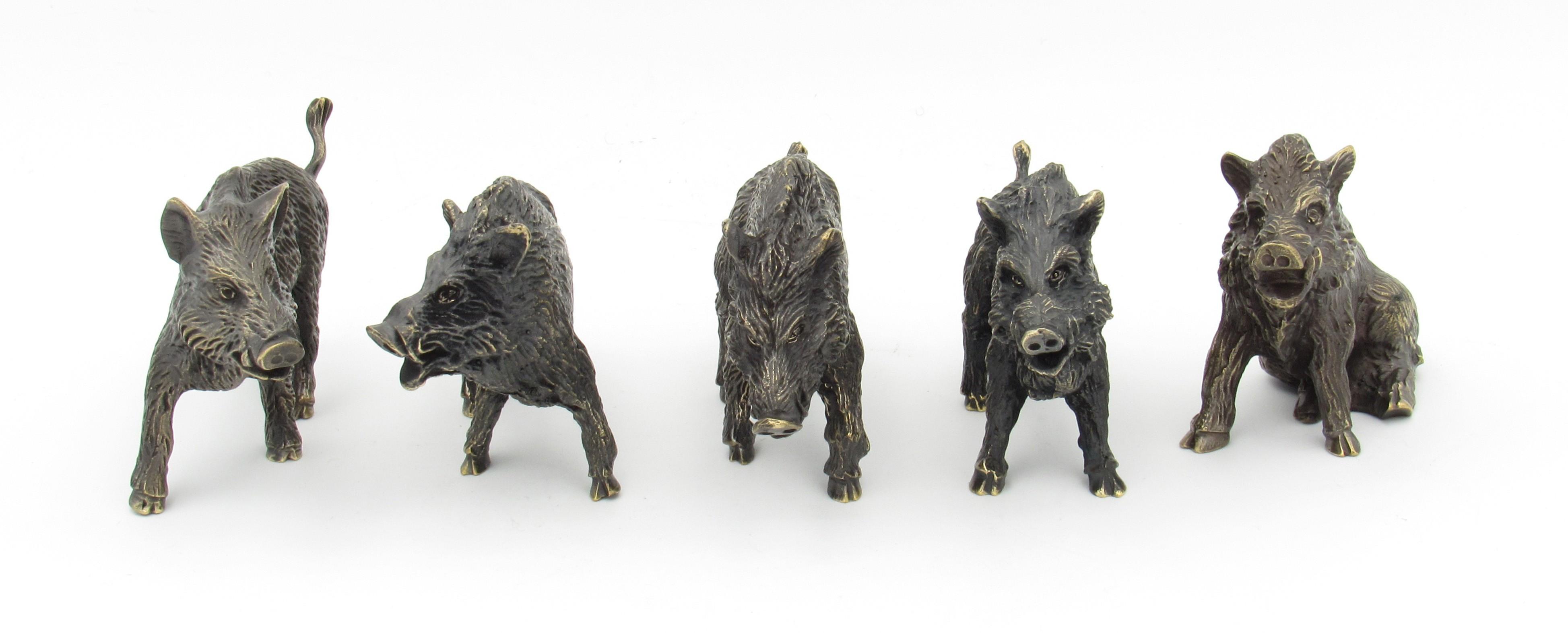 Bronze Sanglier - Cinq attitudes
