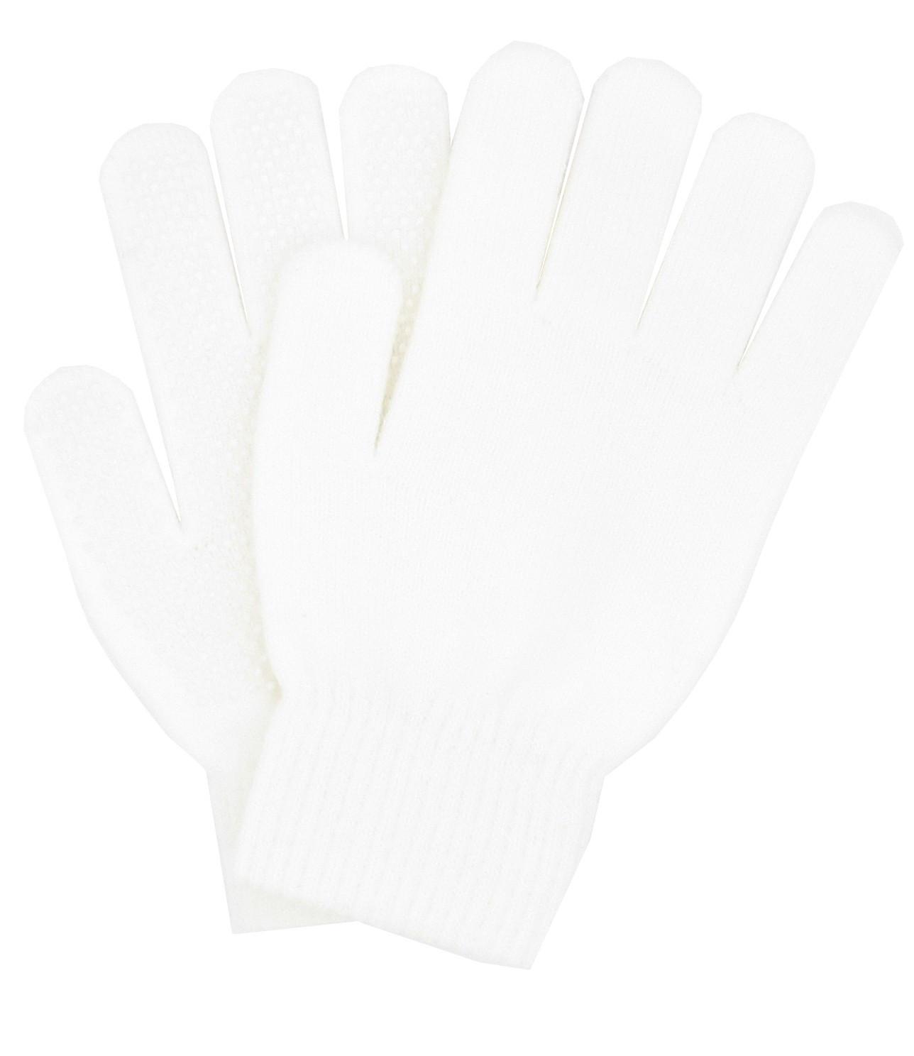 Gants blancs tricot à picots