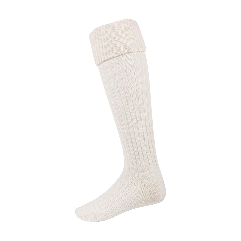 Chaussettes à double revers blanches