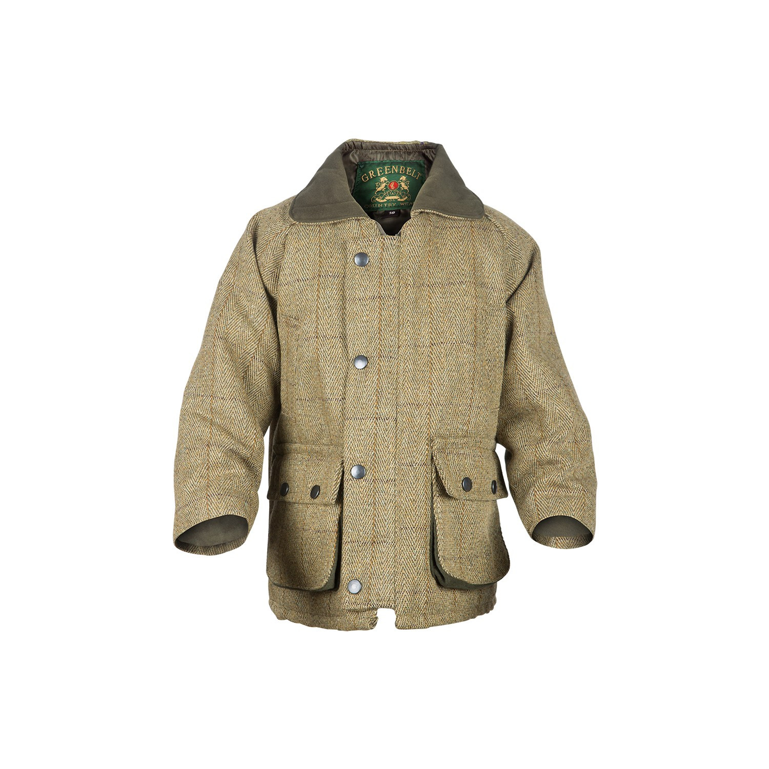 Manteau enfant tweed clair