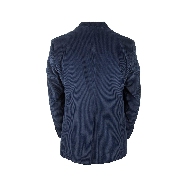 Veste en velours bleu marine