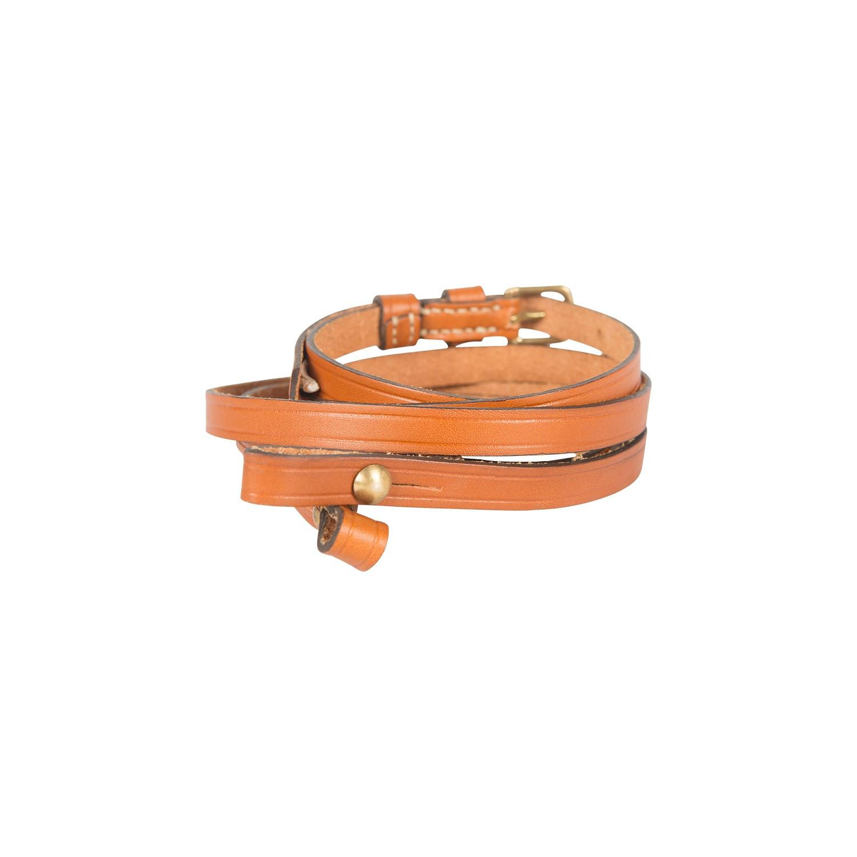 Lanière de pibole en cuir sellier réglable