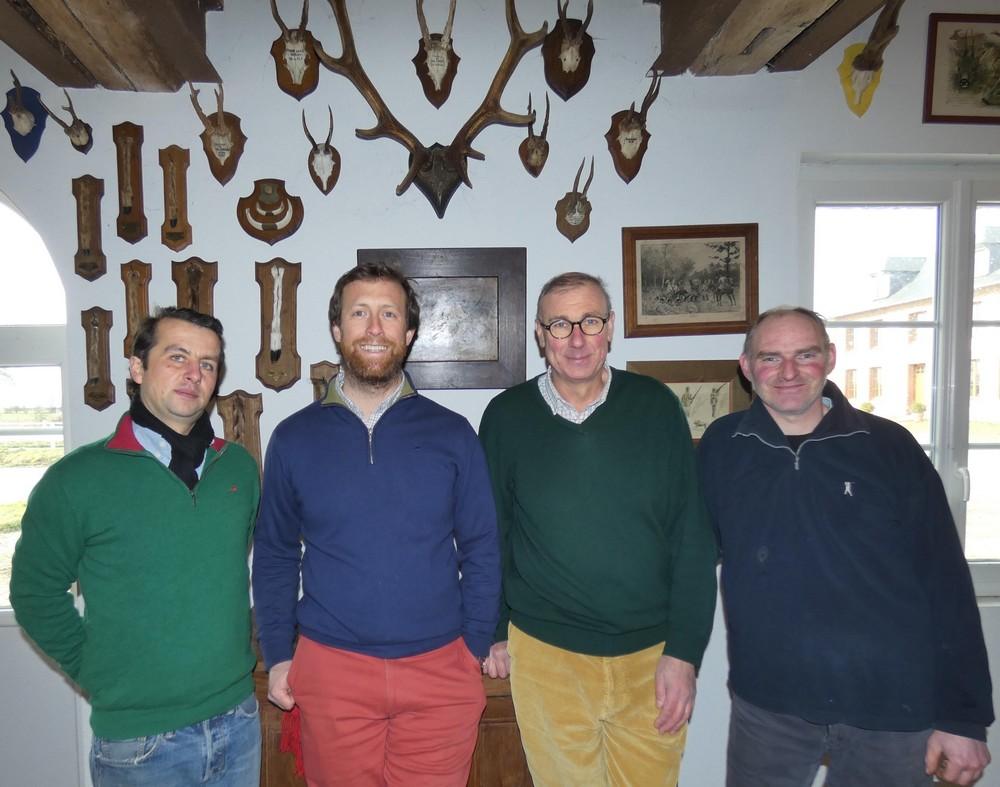 De gauche à droite : Paul, Alec, Mathieu et Samuel